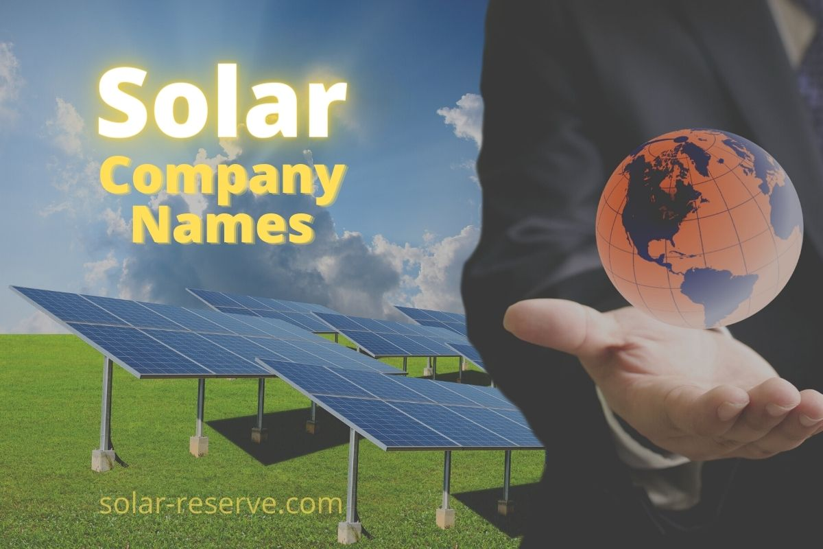 Solar Company Names